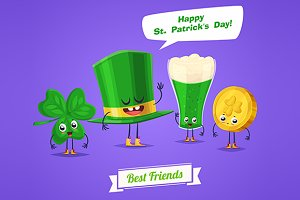 Funny characters Saint Patricks Day
