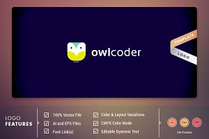 Owl Coder - Logo Template