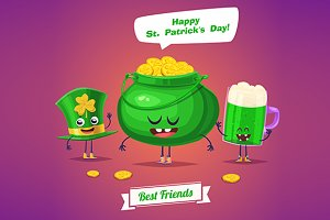 Characters of Saint Patricks Day