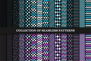 Collection of seamless patterns.