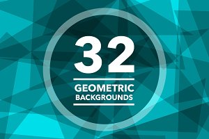 (SALE) 32 Geometric Backgrounds