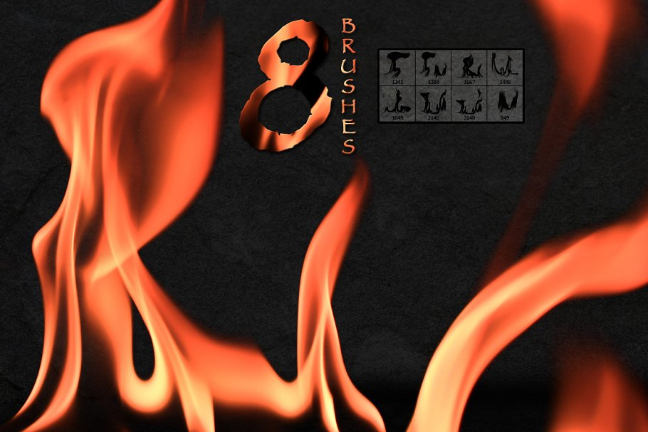 916d5dac6998 Fire Flames Brushes ~ Photoshop Add-Ons ~ Creative Market