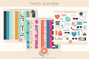 Hello Bundle Clip Art and Papers