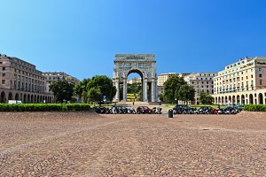 Piazza della Vittoria square