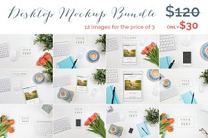 Styled Desktop Mockup Bundle