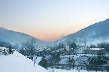 Village in the Carpathian Mountains