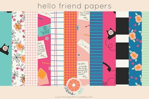 Hello Friend Digital Papers