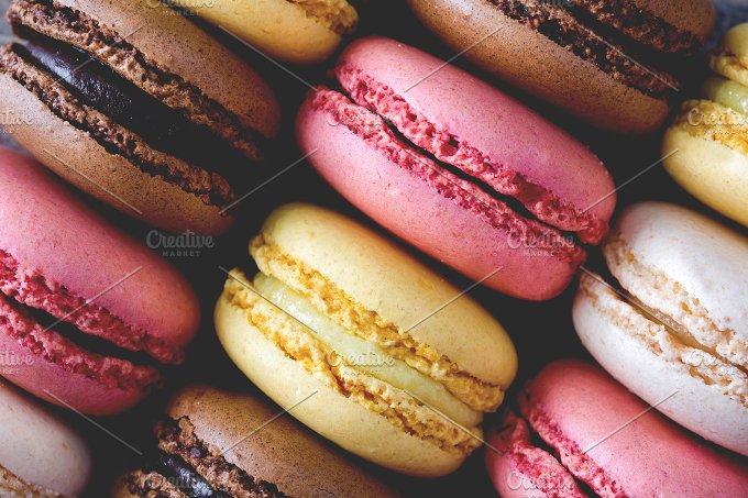 Macarons. Vintage style photo - Food & Drink