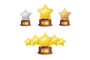 Star Award Set. Vector