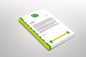 Eco Cycle Letterhead Template