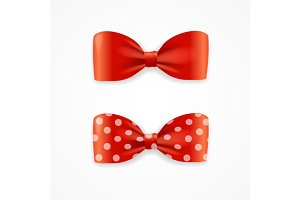 Bow Tie Set. Vector