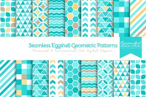 Seamless Eggshell Geometrics