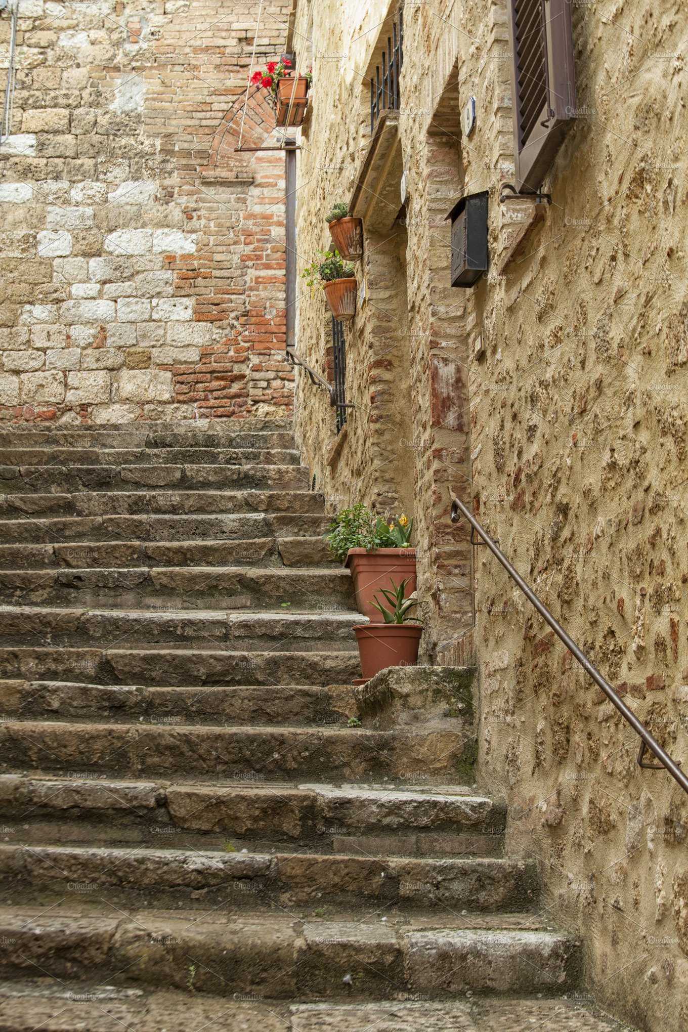 Old Stone Stairs In Italy Architecture Photos Creative Market
