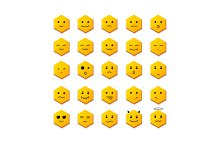 Smile Icon Set with Different Face.