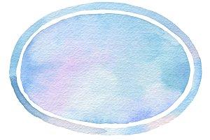 Ellipse watercolor paint