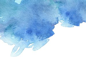 watercolor brush strokes painted