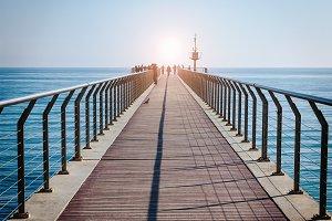 """Bridge Oil "" - gangway over the sea"