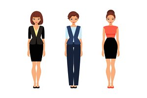 Business women in office clothes