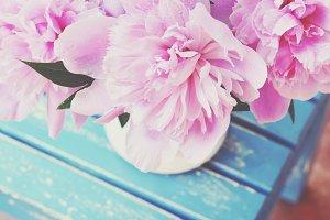 Pink peonies...