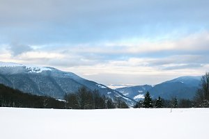 Mountains winter landscape