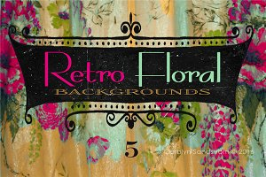 Retro Floral Backgrounds