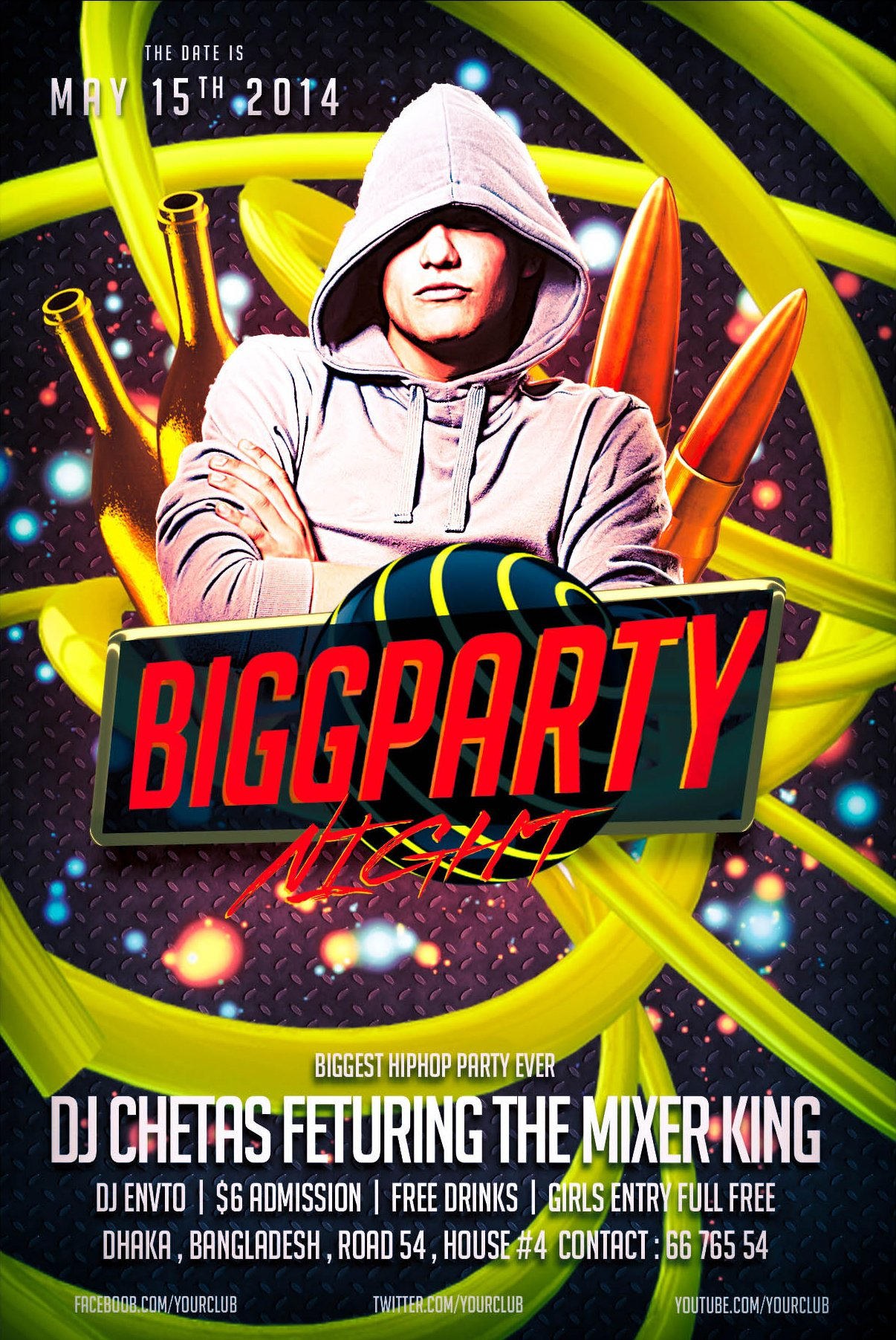 Bigg party night flyer template flyer templates creative market saigontimesfo