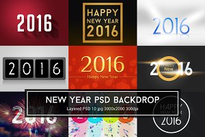 New Year PSD Backdrop