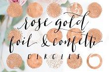 Rose Gold Foil & Confetti Circles