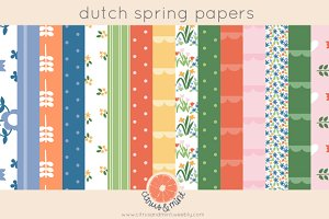 dutch spring digital papers