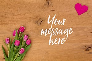 Valentines Mockup Photo | Tulips 01