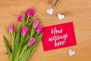 Valentines Mockup Photo | Tulips 04