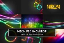Neon PSD Backdrop