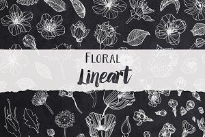 Floral Lineart