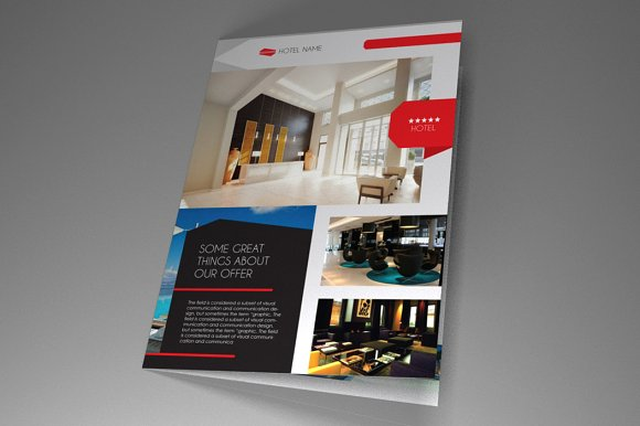 Hotel brochure indesign vol 1 brochure templates for Hotel brochure design