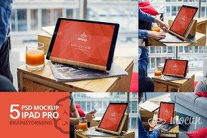 5 PSD Mockup iPad Pro Brainstorming