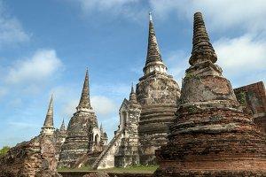 Thailand,ayutthaya,pagodas