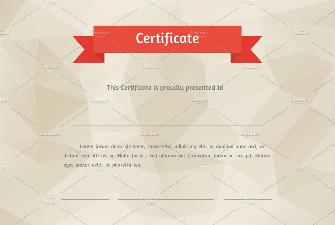 10 great looking certificate templates for all occasions vector flat style certificate by graphics alramifo Choice Image