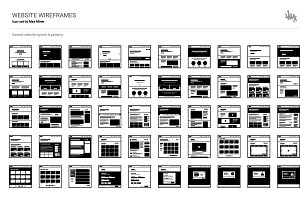 Web Layouts & Wireframe Icon Set