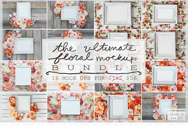 THE ULTIMATE FLORAL MOCK UP BUNDLE