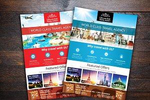 Vacation Travel Agency Flyer Templates Creative Market