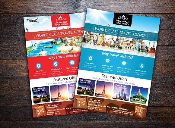 vacation travel agency flyer flyer templates creative market