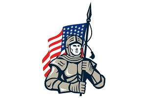 Knight Holding USA Flag Retro