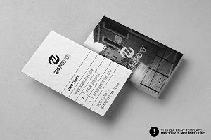 Clean Minimal Photo Business Card