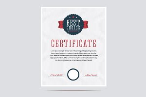 Best choice certificate.