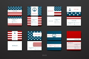President's Day business cards