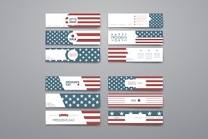 President's Day banners