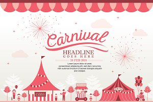 Carnival Theme Template Design