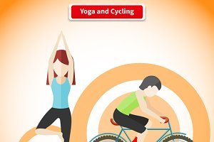 Yoga and Cycling Sport