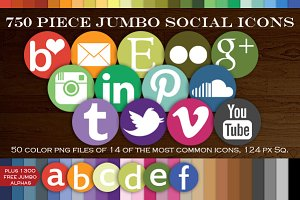 HUGE 700 Social Media Icon Package