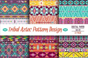 Ethnic pattern in aztec style